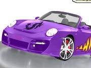 Kolorowanka samochód porsche