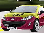 kolorowanka samochód peugeot